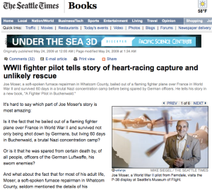 Joe Moser featured in Seattle Times